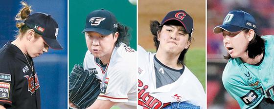 이대은, 김범수, 김원중, 배재환(왼쪽부터).
