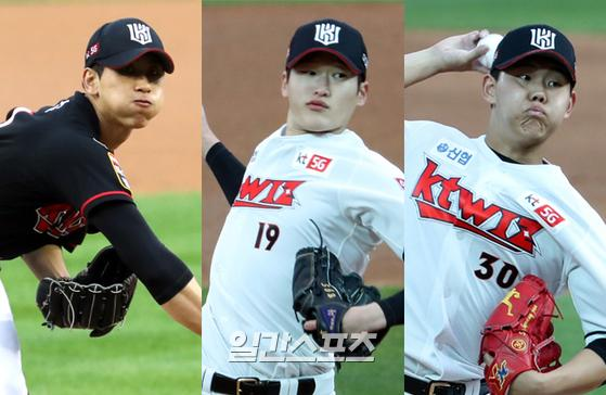 KT 김민수(왼쪽부터)·배제성·소형준. IS포토