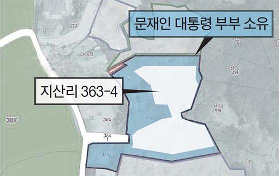 여기엔 일부 농지(지산리 363-4)가 포함됐다. [중앙포토]