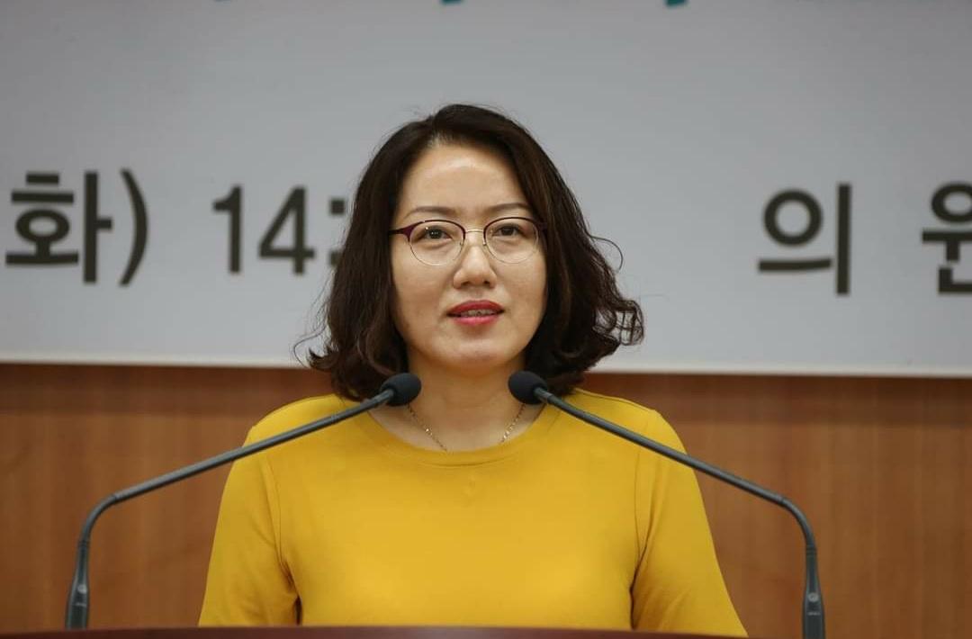 정의당 최영심 전북도의원(비례대표). [최영심 도의원 페이스북 캡처]
