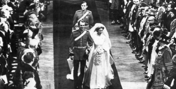 영국 앤 공주가 마크 필립스대위와 결혼식을 올리고 있다. 정희윤 기자