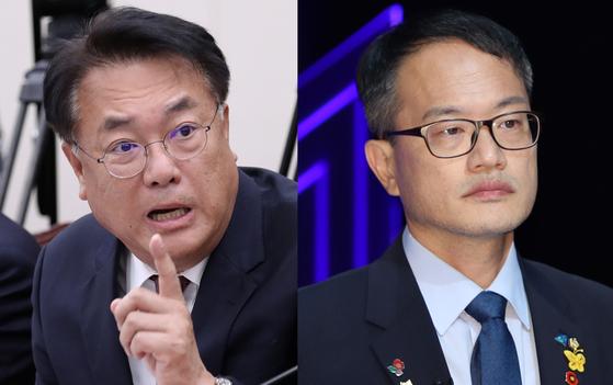 정진석(왼쪽) 미래통합당 의원과 박주민 더불어민주당 의원. 중앙포토·연합뉴스