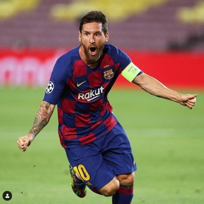 축구의 신이라 불리는 메시가 FC바르셀로나의 유럽 챔피언스리그 8강 진출을 이끌었다. [사진 바르셀로나 인스타그램]