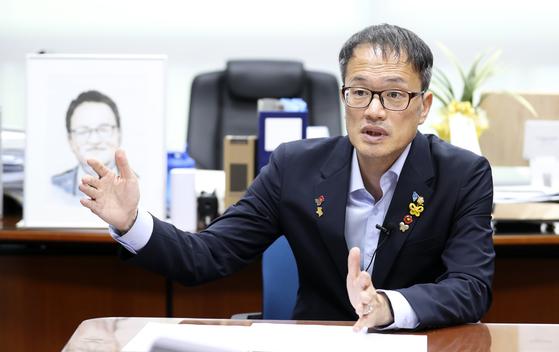 박주민 더불어민주당 당대표 후보자 인터뷰가 5일 오후 국회 의원회관 사무실에서 열렸다. 임현동 기자