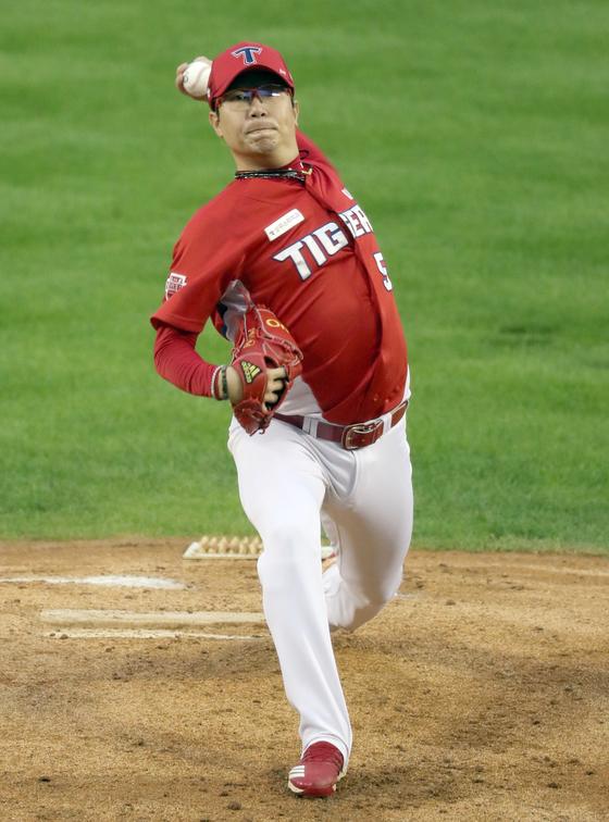 11일 잠실 LG전에서 시즌 7승을 올린 KIA 타이거즈 양현종. 정시종 기자