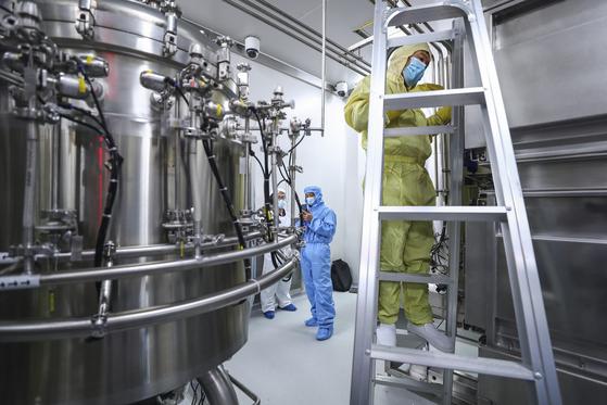 중국 국영으로, 최대 제약회사인 시노팜(中國醫藥集團ㆍsinopharm). 현재 베이징에 본사가 있다. [AP=연합]
