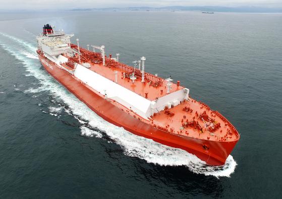 현대중공업이 건조한 LNG 운반선. 사진 현대중공업그룹