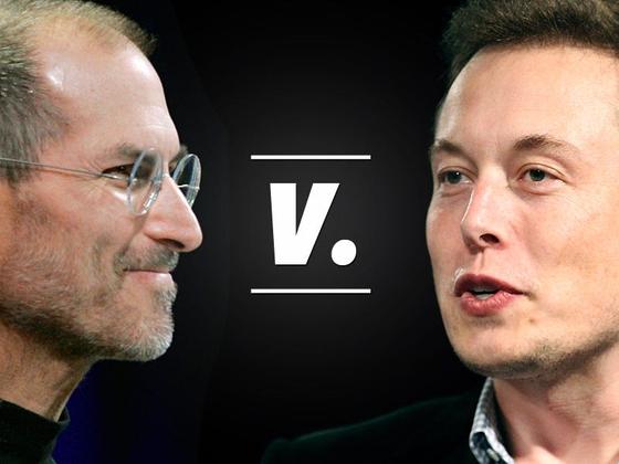 스티브 잡스(왼쪽) 전 애플 CEO와 일론 머스크 테슬라 CEO