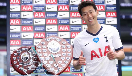 손흥민이 EPL '올해의 골'을 수상했다. [사진 토트넘 트위터]