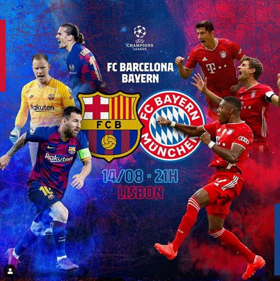 메시(바르셀로나)와 레반도프스키(뮌헨)가 챔피언스리그 8강에서 맞붙는다. 두 선수는 올 시즌 유럽 최고의 골 결정력을 과시 중이다. [사진 바르셀로나 인스타그램]