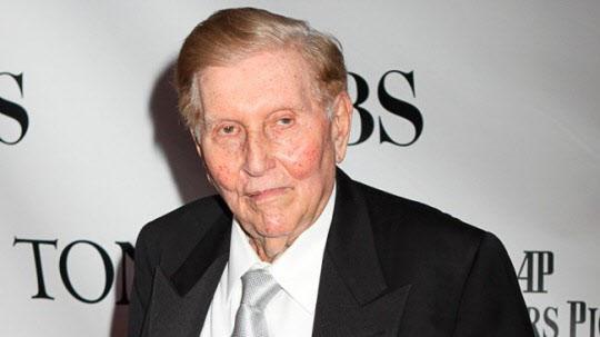 비아콤 CBS를 만들어 `미디어 황제`로 불린 섬너 레드스톤이 12일 타계했다. 향년 97세 [사진 CBS캡처]