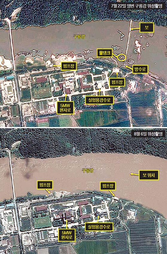 홍수 난 북한 영변