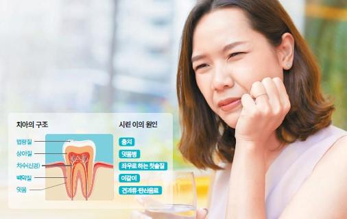 이가 시릴 땐 치아 손상 부위를 메꾸거나 칫솔질·식습관 등을 개선하면 증상을 완화할 수 있다.