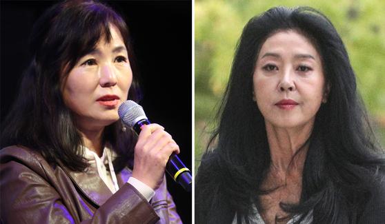 소설가 공지영(왼쪽)과 배우 김부선. 뉴스1·연합뉴스