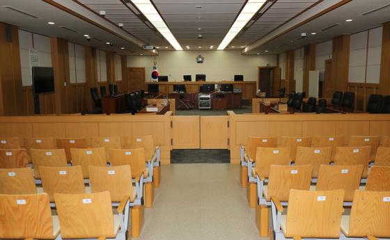 제주지방법원 법정 내부 모습. [뉴스1]