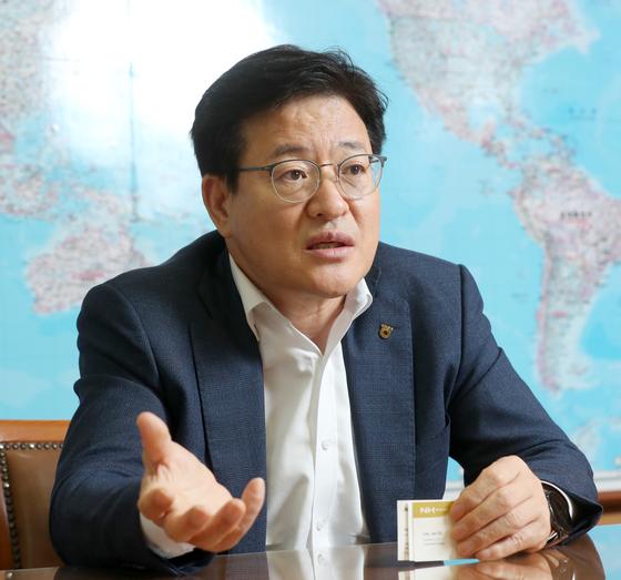이재식 농협상호금융 대표. 강정현 기자