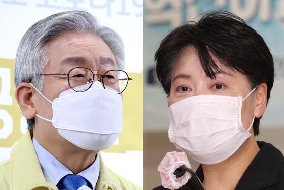 이재명 경기도지사(왼쪽), 윤희숙 미래통합당 의원. 연합뉴스