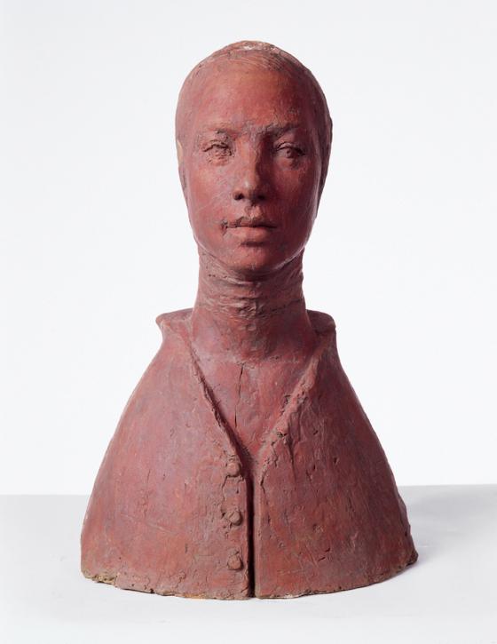 권진규, '지원의 얼굴' 1967년작, 테라코타, 50x32x32cm. [사진 국립현대미술관]