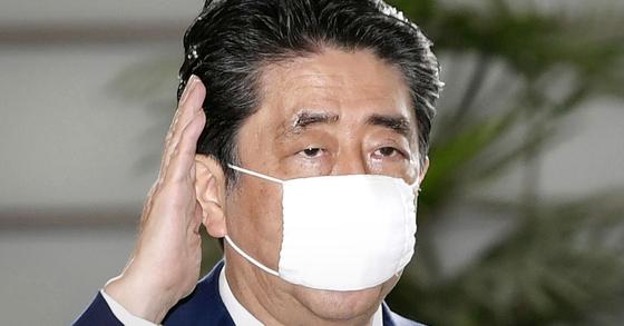 아베 신조(安倍晋三) 일본 총리. 교도=연합뉴스