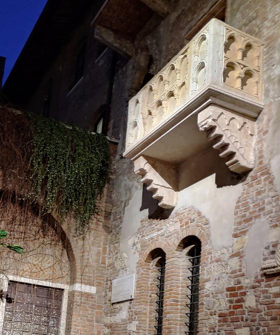 베로나의 '줄리엣의 집' 발코니. [사진 한형철]