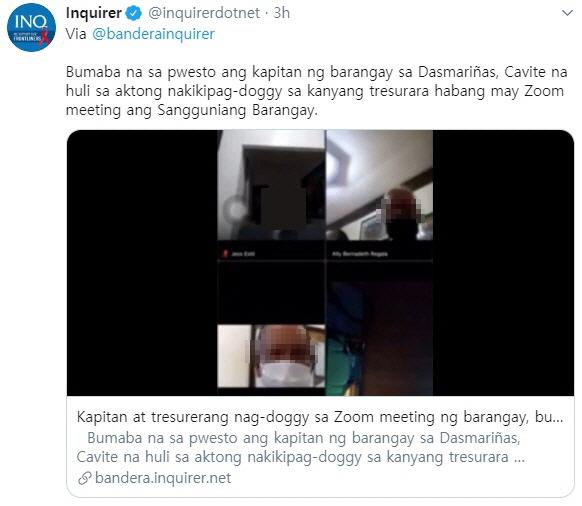 사진 필리핀 언론 인콰이어러 트위터