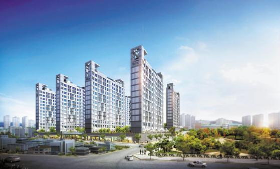 반세기 이상의 건설 노하우와 첨단 기술력을 자랑하는 두산건설이 시공예정인 송파거여 위너스파크 투시도.