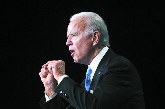 미국 민주당은 20 일 (현지 시간) 조 바이든 전 부통령을 대선 후보로 공식 지명했다. [AFP=연합뉴스]