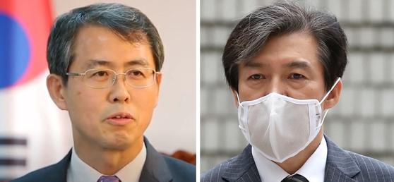 이흥구 대법관 후보자(왼쪽)과 조국 전 법무부 장관. 연합뉴스, [중앙포토]