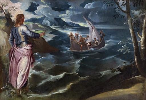 기도를 마치고 산에서 내려오자 제자들은 이미 배를 타고 떠난 뒤였다. 예수는 물 위를 걸어서 제자들에게 다가갔다고 성경에 기록돼 있다. [중앙포토]