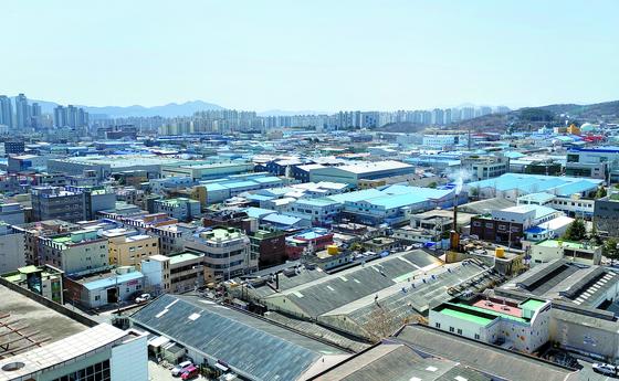 코로나19로 한국 수출이 직격탄을 맞았다. 대구시 서구 중리동 서대구산업단지 전경의 모습.[연합뉴스]
