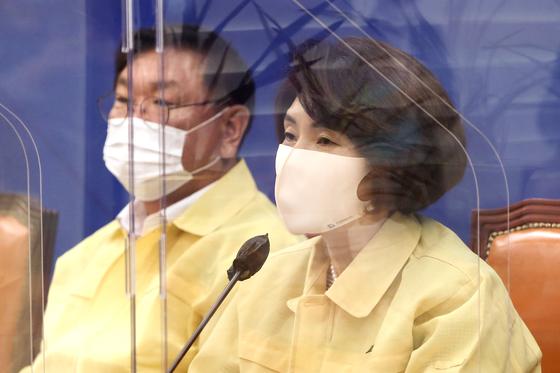 더불어민주당 한정애 신임 정책위의장. 연합뉴스