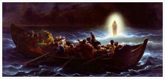 """성경에는 예수가 물 위를 걸었다고 기록돼 있다. 그걸 본 배 안의 제자들은 """"스승님은 하느님의 아들이시다""""고 말했다. [중앙포토]"""