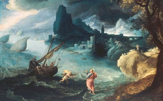 예수 당시의 유대인들은 천국 사람은 물 위를 걷는다고 믿었다. 그래서 물 위를 걷는 예수를 천국사람이라고 생각했다. [중앙포토]