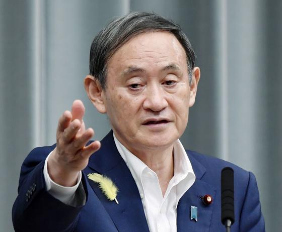 일본 자민당의 차기 총재로 유력하게 떠오르고 있는 스가 요시히데 관방장관. [연합뉴스]