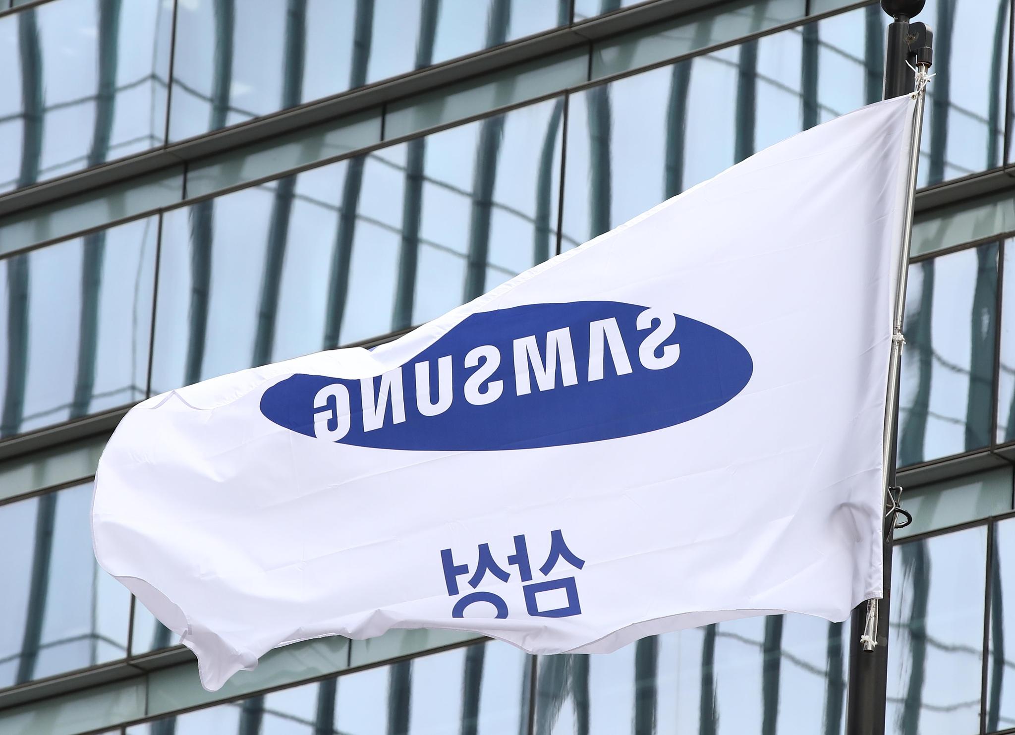 31일 서울 서초구 삼성 서초사옥에 걸린 깃발이 바람에 휘날리고 있다. 연합뉴스