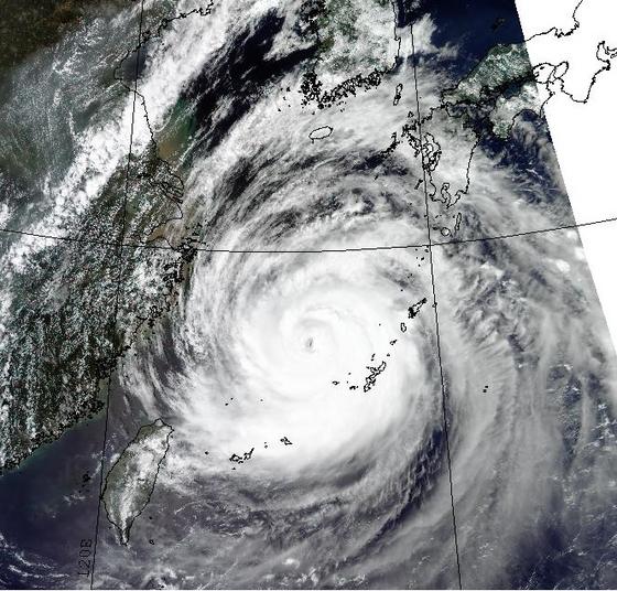 한반도를 향해 북상중인 제 9 호 태풍