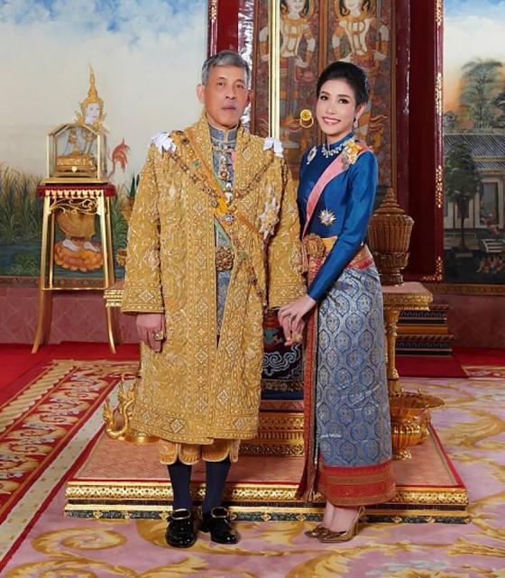지난해 8월 26일 시니낫이 태국 왕실에서 쫓겨나기 전 왕실 홈페이지에 공개됐던 사진. AP=뉴시스