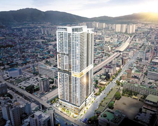 GS건설이 9월 의정부 중심에 선보일 예정인 의정부역스카이자이 조감도. 최고 49층의 새 랜드마크 단지다.