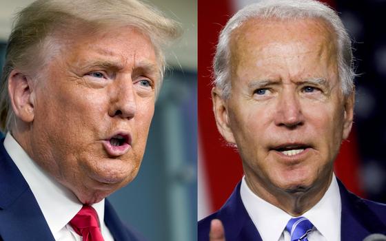 재선에 도전하는 도널드 트럼프 미국 대통령과 조 바이든 민주당 대선 후보. [AP, 로이터=연합뉴스]