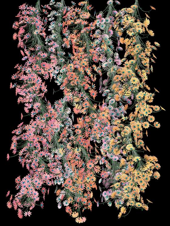 jENNIFER STEINKAMP Daisy Chain Twist, tall, 2004 Video installation Dimensions variable[리만머핀 갤러리]