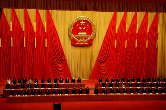 중국은 8일 베이징 인민대회당에서 시진핑 주석이 참석한 가운데 코로나19에 대한 성공적 대응을 자축하는 표창행사를 열었다. [로이터=연합뉴스]