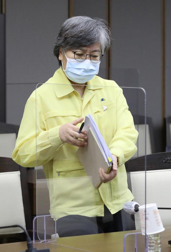 정은경 중앙방역대책본부장(질병관리본부장). 연합뉴스