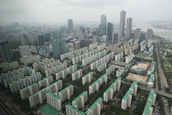 서울 63빌딩에서 본 서울 아파트 모습. 연합뉴스