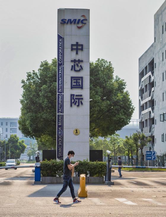 7일 중국 상하이 SMIC 공장의 모습. [EPA=연합뉴스]