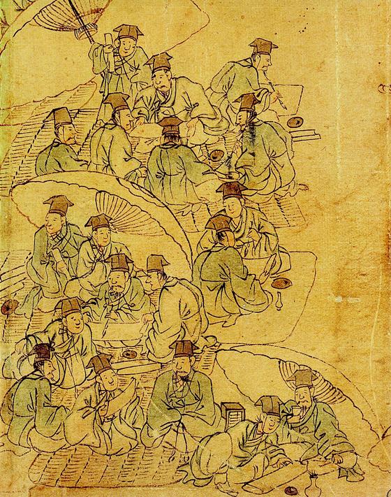 19세기 과거시험장을 그린 '소과응시' [사진 국립중앙박물관]