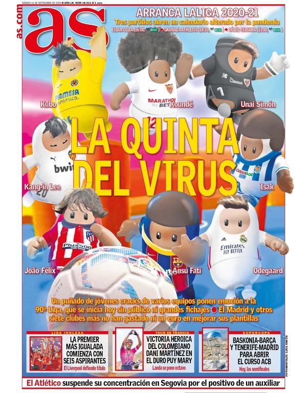 스페인 매체 아스는 발렌시아 아깅안과 비야 레알 일본인 쿠보를 찢어진 눈으로 표현했다. [사진 아스]