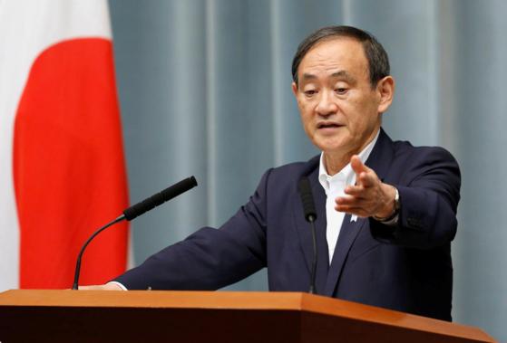 아베 정권에서 관방장관으로 일한 스가 요시히데가 일본 새 총리로 정해졌다. [중앙포토]