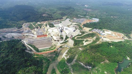 한국농어촌공사가 농업기반기술 해외 진출로 다양한 성과를 내고 있다. 인도네시아 자카르타 까리안댐 공사 현장 전경. [사진 한국농어촌공사]