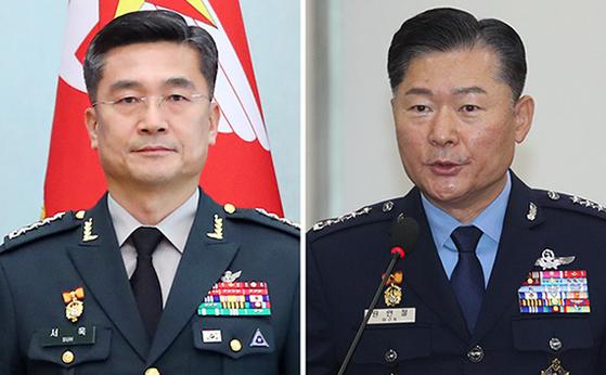 서욱(左), 원인철(右)