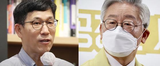 진중권 전 동양대 교수(왼쪽)와 이재명 경기지사(오른쪽). 중앙포토·뉴스1